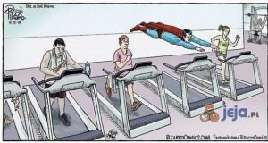 Superman dba o formę