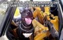 Pies wyraził swoje niezadowolenie z samotnego pobytu w aucie...