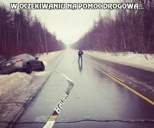 W oczekiwaniu na pomoc drogową...