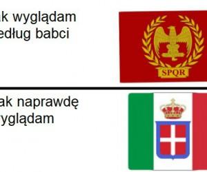 Mem o lekkim zabarwieniu historycznym