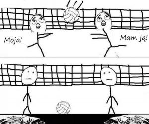 Za każdym razem, grając w szkole w siatkówkę