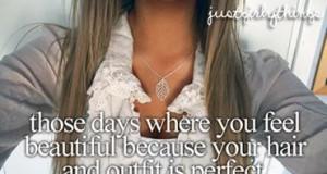 Perfekcyjne ubranie i włosy