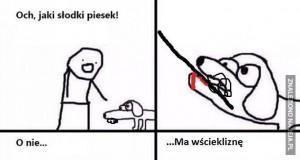 O nie... Znowu ten pies