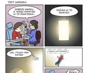 Wciągające badanie wzroku