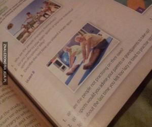 Dziwny Pan ze Stocku w mojej książce od angielskiego!