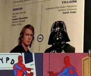 Bohaterowie vs złoczyńcy