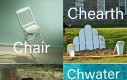 Różne wersje krzeseł