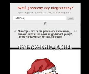 Mikołaj przyłapany na grzeszkach