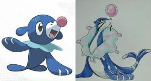 Wymyślone ewolucje nowych starterów w Pokemonach