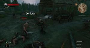 Gdy świetnie parujesz ataki, ale trafiasz na Geralta