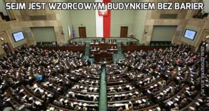 Sejm jest wzorcowym budynkiem bez barier