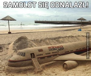 Samolot się odnalazł!