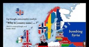 Mapa Europy według Google