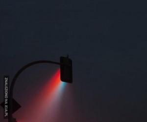 Sygnalizacja świetlna podczas mgły