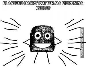 Dlaczego Harry Potter ma piorun na czole?