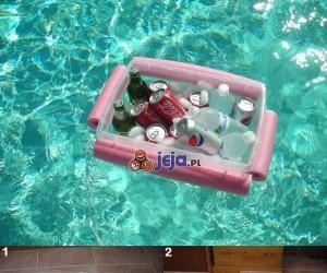 Zimne piwko w basenie