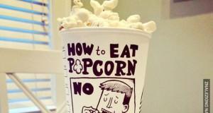 Jak jeść popcorn