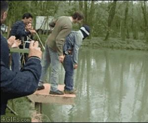 A myślał, że skacze na bungee...