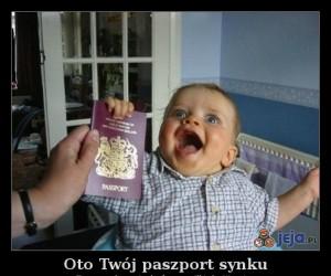 Oto Twój paszport synku