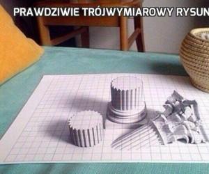 Prawdziwie trójwymiarowy rysunek