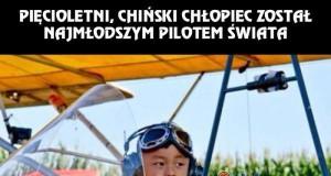 Najmłodszy pilot świata