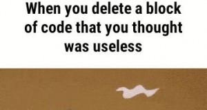Gdy usuniesz fragment kodu, który wydawał się zbędny
