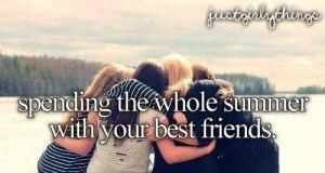 Spędzanie całego lata z najlepszymi przyjaciółmi