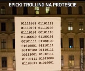 Epicki trolling na proteście