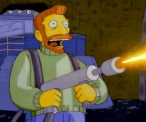 Czasem chcę wziąć miotacz ognia i okazać Ci swoje gorące uczucia...
