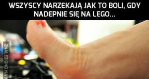 Nadepnięcie na Lego to jeszcze nic!