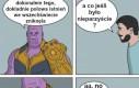 Thanos golił się grabiami