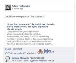 Gdyby to dziś A. Mickiewicz opublikował Pana Tadeusza
