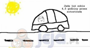 Wpadka na autostradzie