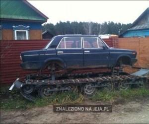 Rosyjski czołg podwórkowy