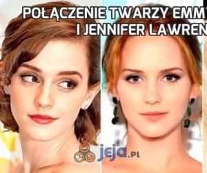 Połączenie twarzy Emmy Watson i Jennifer Lawrence