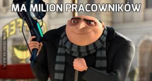 Ma milion pracowników