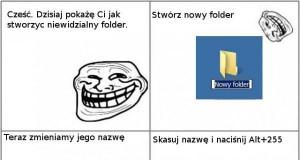 Niewidzialny folder