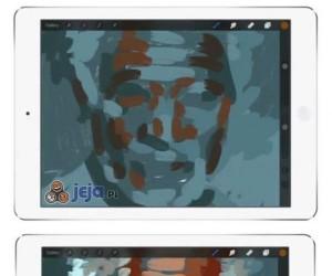 Realistyczny portret na ekranie dotykowym