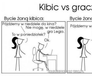 Kibic vs. Gracz