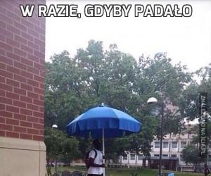 W razie, gdyby padało