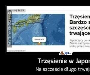 Trzęsienie w Japonii