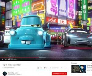 Top 10 najszybszych aut w anime