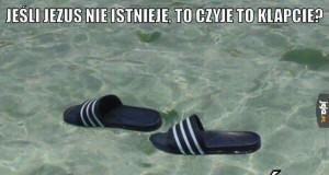 Klapki na wodzie