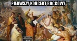 Pierwszy koncert rockowy