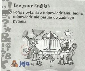 Tymczasem, w ćwiczeniówce od angielskiego