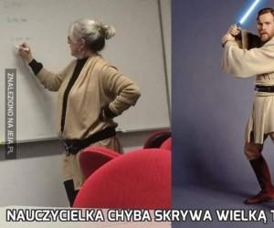 Nauczycielka chyba skrywa wielką tajemnicę...
