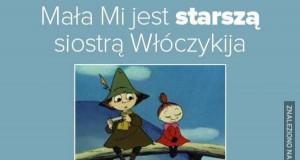 Mała Mi jest starszą siostrą Włóczykija