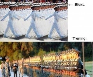 Trening w koreańskim wojsku