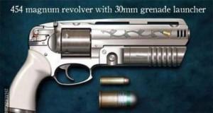 Rewolwer 454 magnum z granatnikiem 30mm