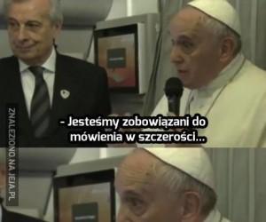 Papież Franciszek w formie